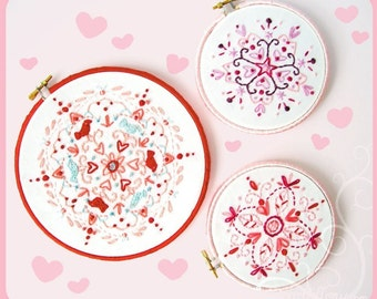 Kaleidoscope Love Embroidery Patterns PDF download hand embroidery patterns designs