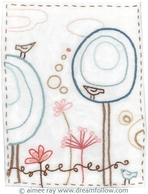 Happy Garden Embroidery Pattern PDF download hand embroidery patterns designs