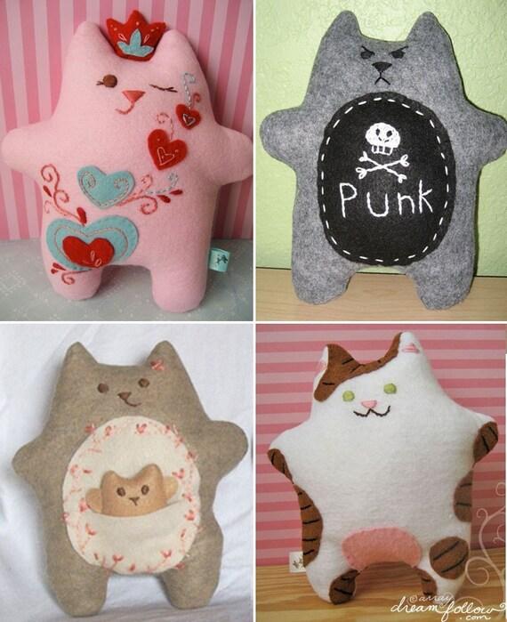 Fatkitty cat plush Custom made for YOU