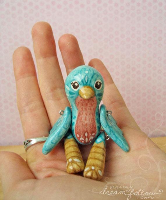 Flitter mini jointed bluebird art doll