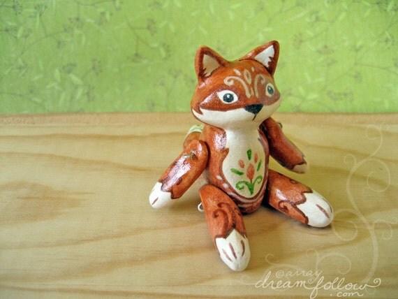 Finn mini jointed fox art doll