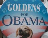 golden retrievers for obama button