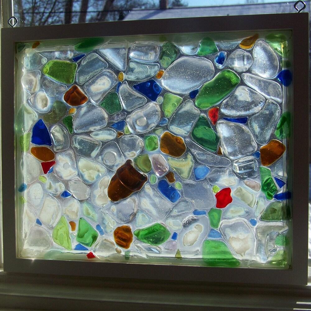 Beach Sea Glass Window Mosaic
