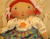 Little redhead, original cloth doll by Renata, APD
