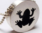 hollow frog pendant medium