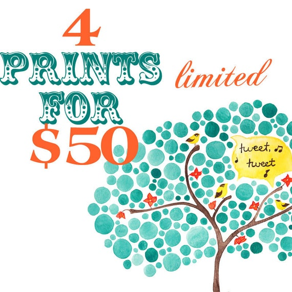 Four Prints for 50 Dollars - Your Choice - Limited Time Offer