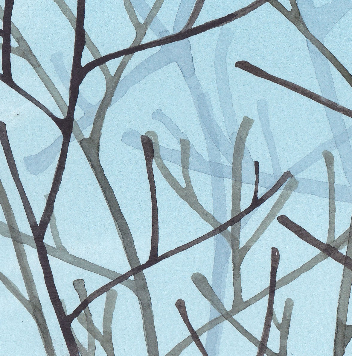 Misty Morning Watercolour Print