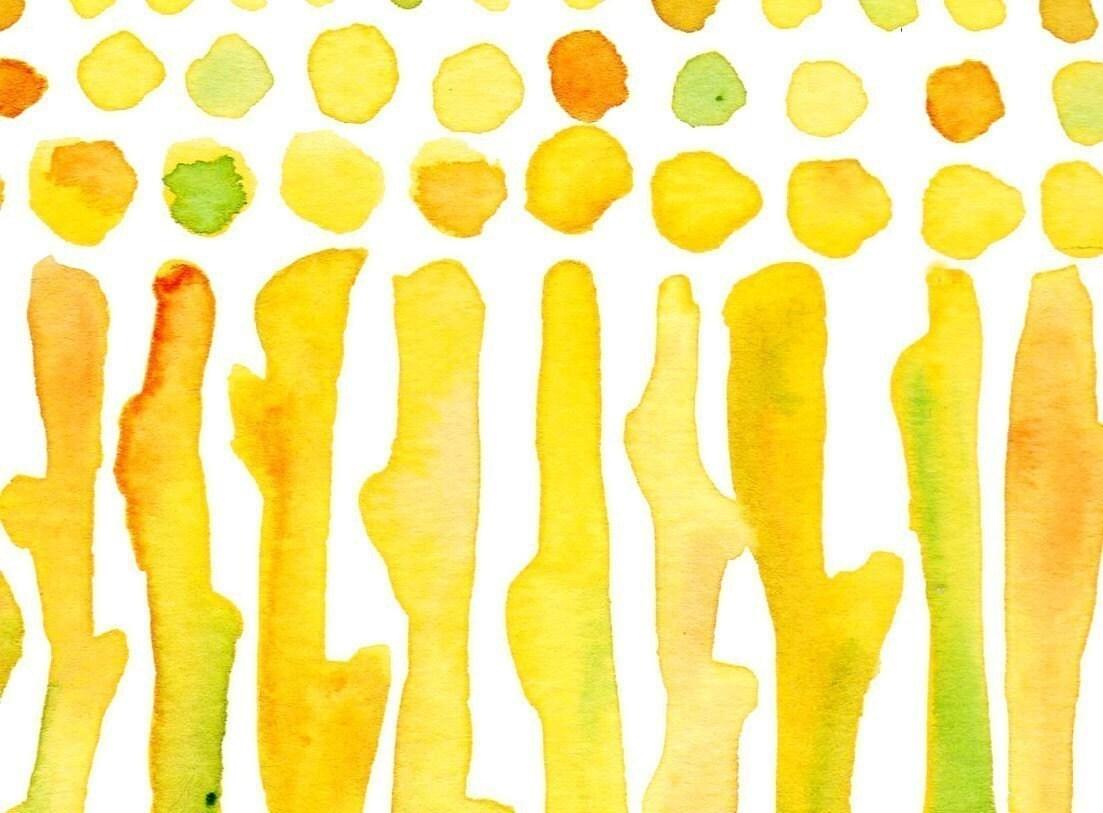 Landscape Watercolour Corn Field Print Wall Decor