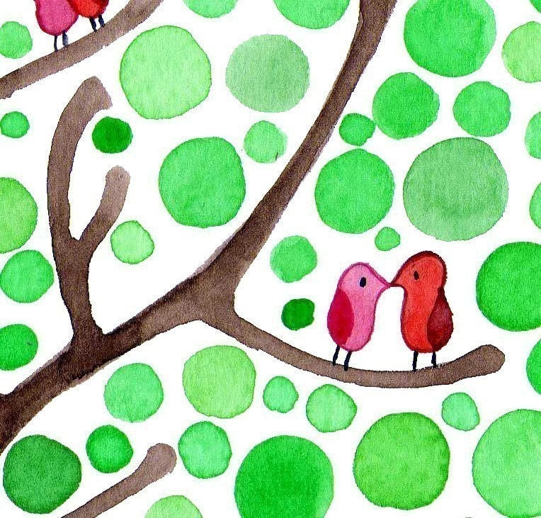 Romance is in the Air Watercolour Art Print