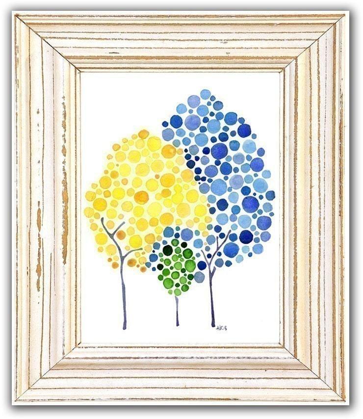 Seedling Watercolour Print Nursery Art Newborn Baby Shower Gift