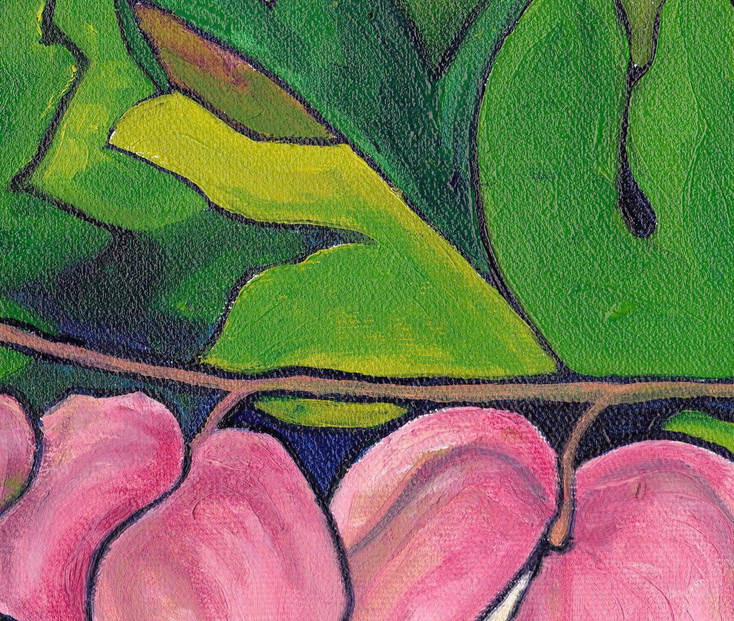 Original Flower Painting Out On A Limb Oil Floral Painting 12x12 on Canvas Ready To Hang Wall Art