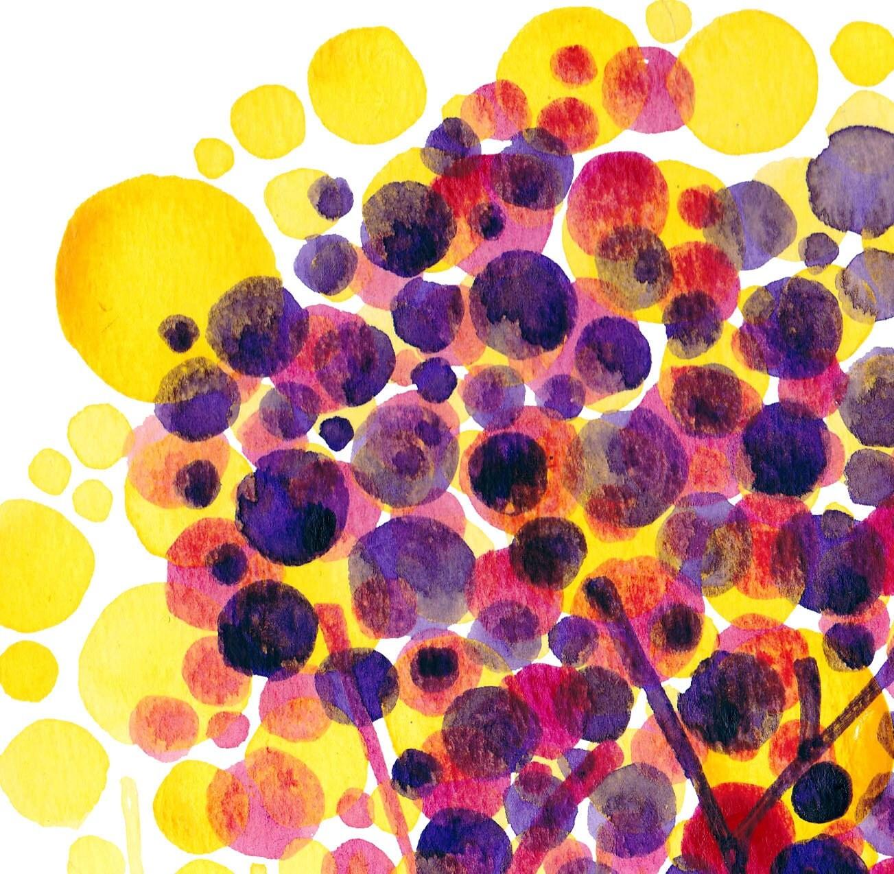 Colorful Impositions Original Watercolour Landscape Painting - on sale
