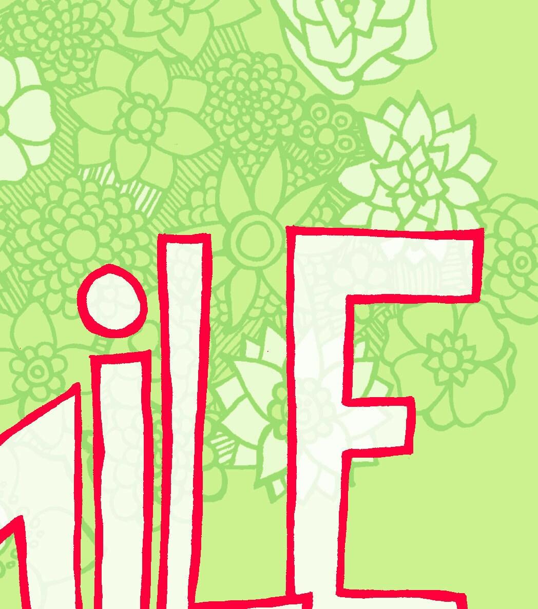 Motivational Art Print Today Is Beautiful Digital Illustration Wall Art