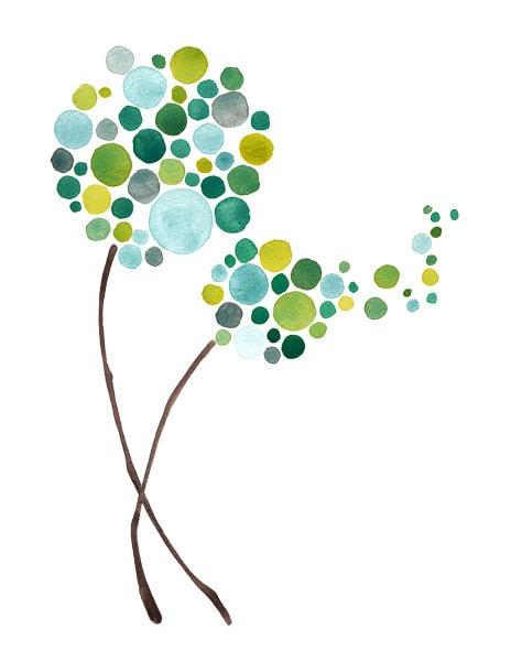 Make A Wish Watercolour Art Print of Painting Wall Art Decor