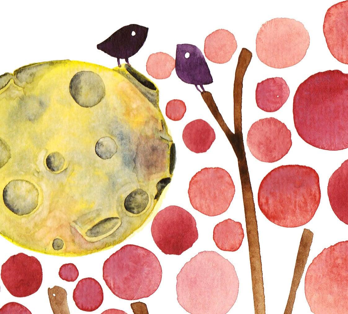 Watercolour Painting Send Me The Moon Romantic Artwork Watercolor Print
