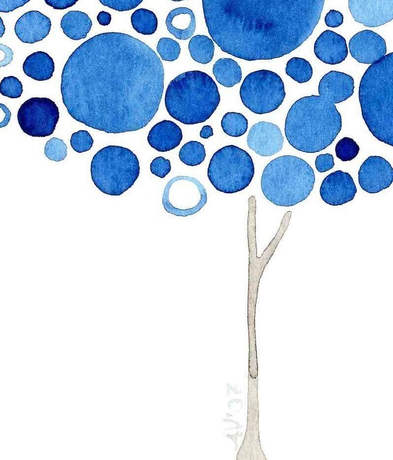 Watercolour Trees When Harry Met Sally Print Artwork Romantic Love Wall Art