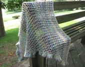 Huge Homespun shawl