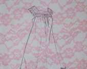 Vintage Lingerie Pattern Nightgown (Allison Gown) Size Small