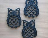 Vintage Owl Cast Iron Trivets - Set of 3 - small