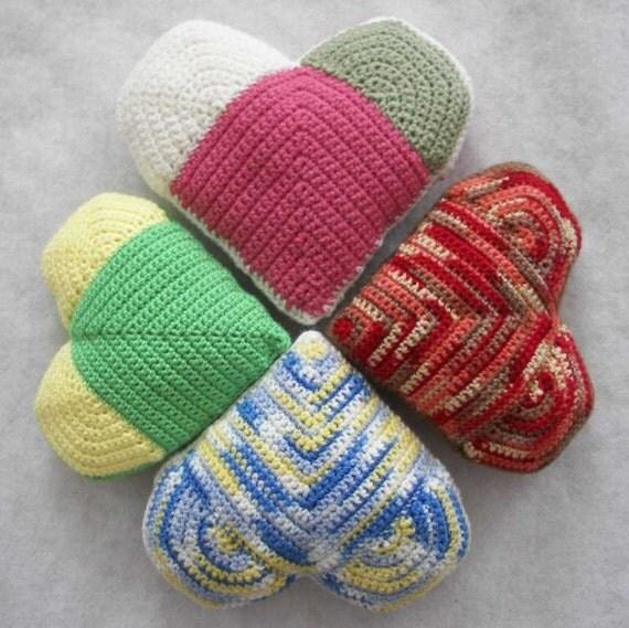 Crochet Heart Pillows Home Decor Good Variety