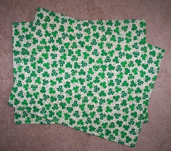 shamrock placemats reversible st patrick 39 s irish luck for