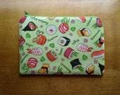 Sushi zipper pouch