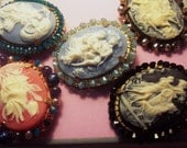 Adorned Cameo Pins