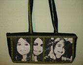 SOLD Black and White Memory Photo Purse Handbag