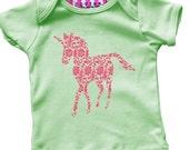 Baby Unicorn Pattern Tshirt
