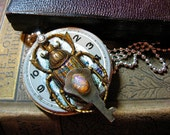 Time Beetle Steampunk Necklace