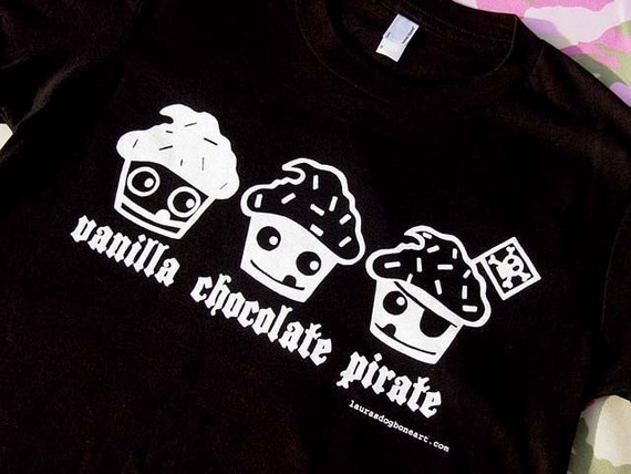 The Pirate Cupcake Womens Fit American Apparel T Shirt XL Only