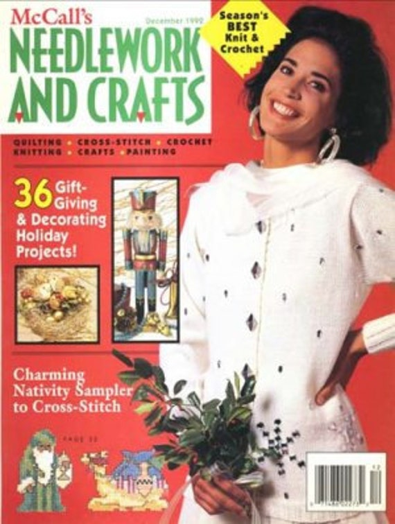 Vintage McCall's Needlework and Crafts December 1992  knit, crochet, crafts