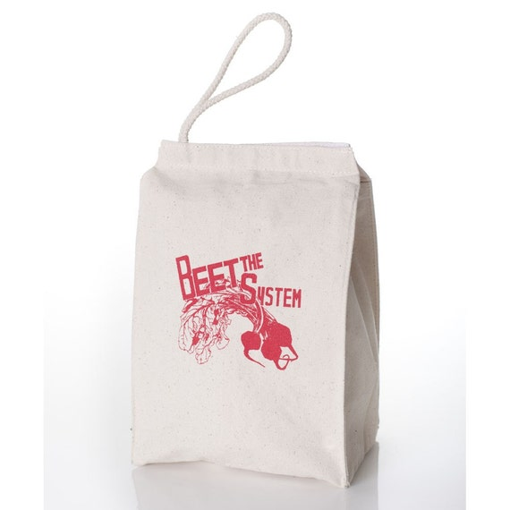 The BEET THE SYSTEM Lunch Bag