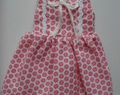 SALE Blythe Doll Dress Pink and White