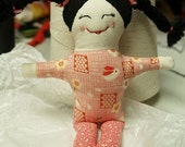 PDF Sewing Pattern for 5 inch rag doll EASY
