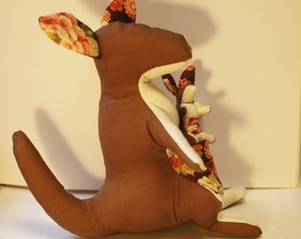 PDF sewing pattern for Mother Kangaroo toy