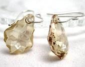 Sweet Golden Morning Swarovski Crystal Earrings Baroque