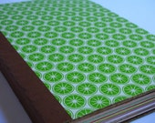 Green Lime Recycled Pages Journal with Envelopes