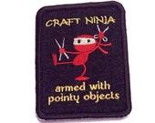 Beware the Craft or Soap Ninja Denim Patch