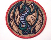 Embroidered Dragon Sew on Patch