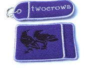 PERSONALIZED Embroidered Business card Holder and Lipbalm, USB, chapstick, breath mint holder keychain set