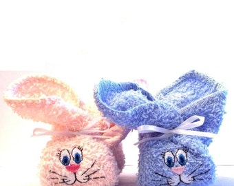 Personalized Embroidered Boo Boo Bunnys - Great Shower Gift