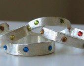 sparkly sterling bands - made to order
