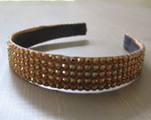 tapered swarovski crystal headband