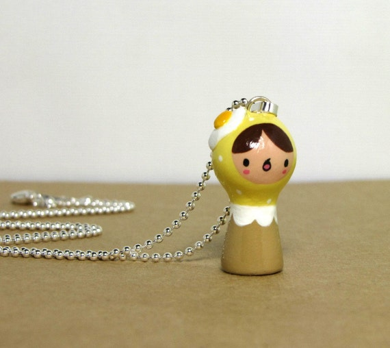 Sunny Side Egg Plini Doll Necklace