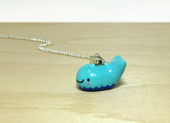 Little Blue Whale Necklace