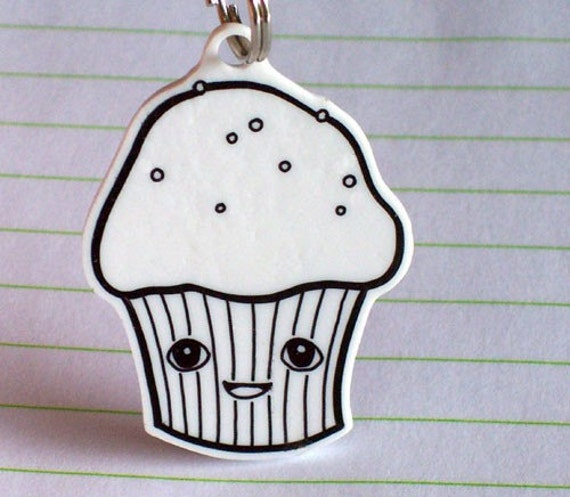 The Life of a Cupcake Cell Phone Charm