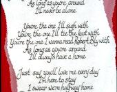 Wedding song or poem (custom)
