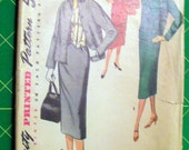 Vintage Suit and Weskit Pattern Simplicity 1272 Size 18 B36 W30 H39