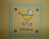 Precious Baby Stamped Card WITH Matching Envelope BOY or GIRL